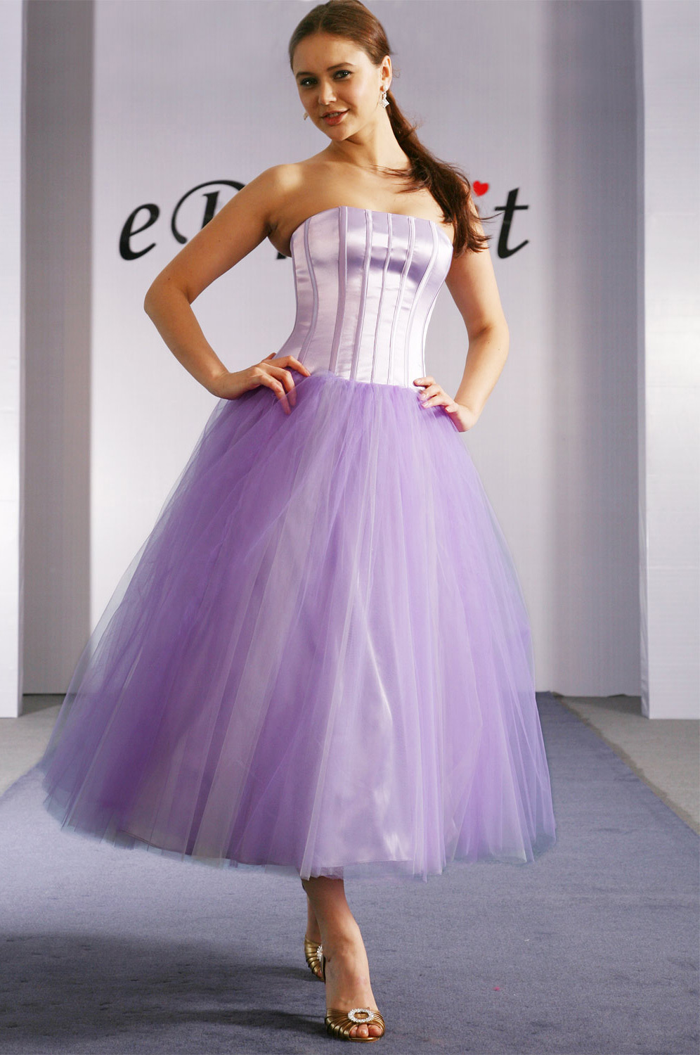 eDressit Gorgeous Purple Strapless Prom Gown (01091906)
