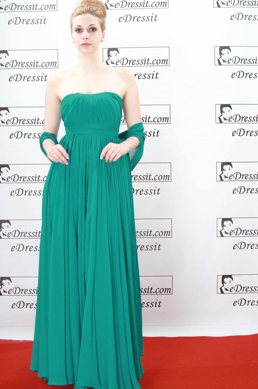 eDressit Elegante y Sexy Vestido Largo de Noche/Fiesta/Boda Verde (00777904)