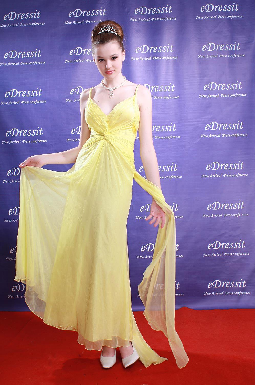 eDressit Gelbes Abendkleid Ballkleid Prom (00778503a)