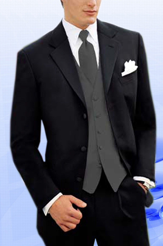 eDressit 100% Wolle Schwarzer Anzug (15095000)