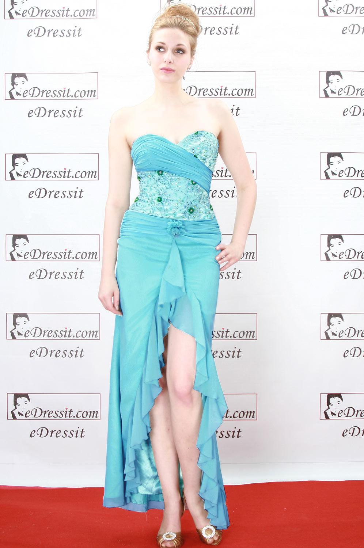 eDressit Sexy Blaues Anbendkleid (00773832)