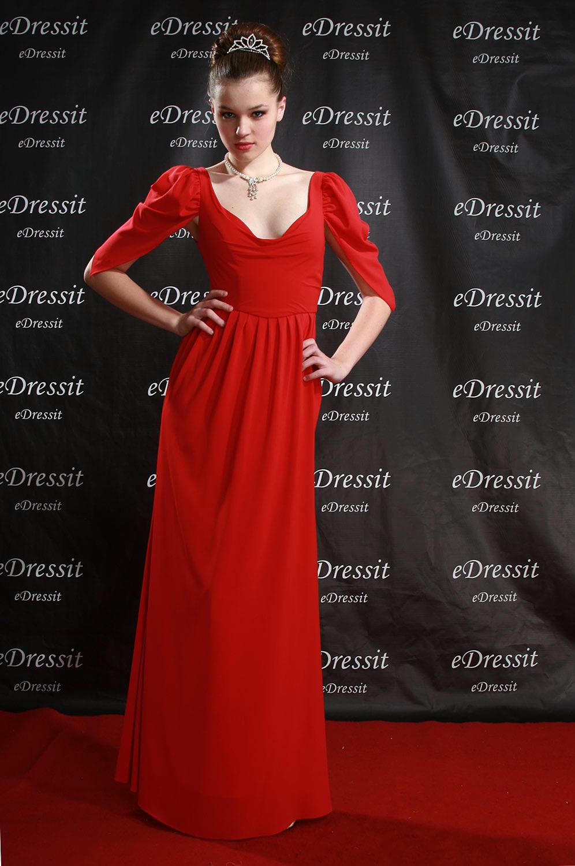 eDressit 08 Robe de Soirée/Mariée/Dress Longue Rouge (00777402)