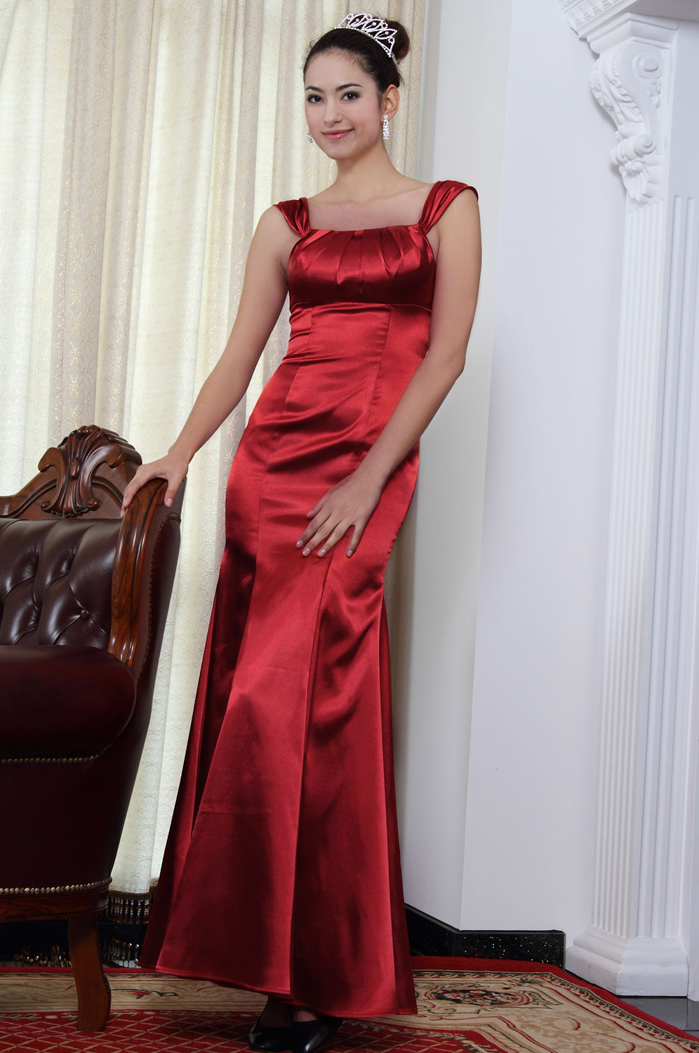eDressit new arrival red evening dress party dress (07090102)