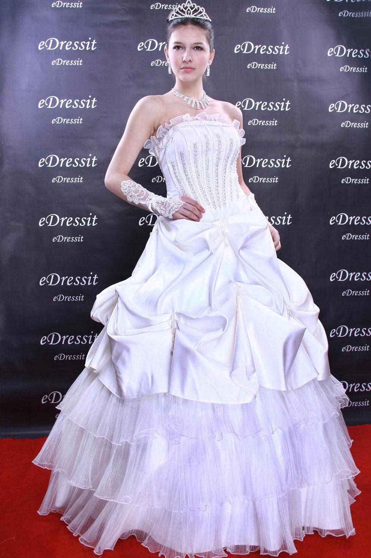 eDressit White Prom Gown Evening Wedding Dress(Custom-made) (01090607)