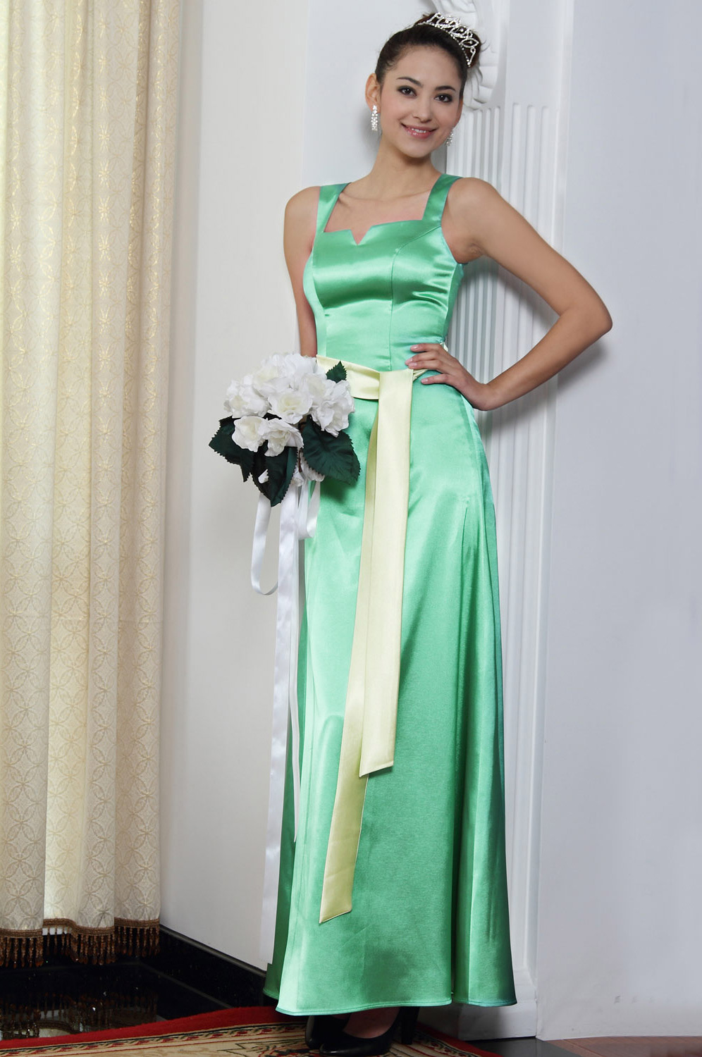 eDressit Elegant Green Bridesmaid Evening Dress (07090204)