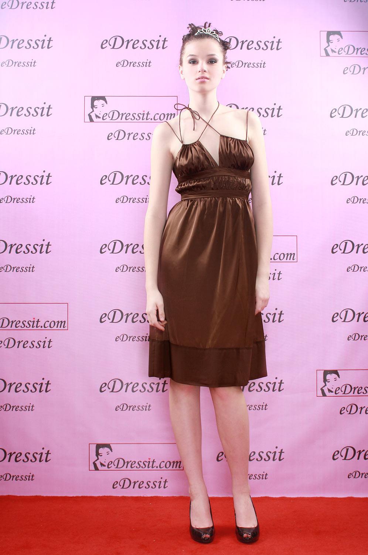 eDressit Mini Robe de Soirée/Cocktail Chocolat (04290120)