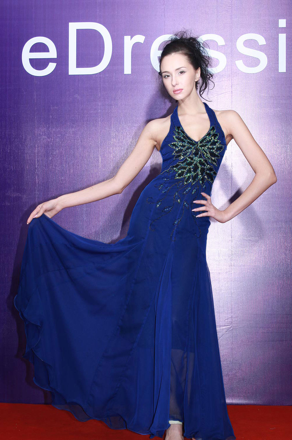 eDressit Dark Blue Prom Gown Evening Dress (00069005)