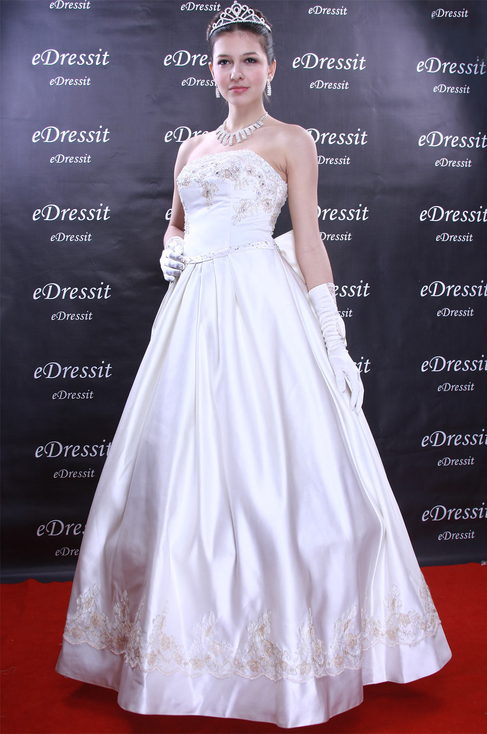 Christmas Discount 50% Off eDressit White Prom Gown Evening Wedding Dress (01091207)