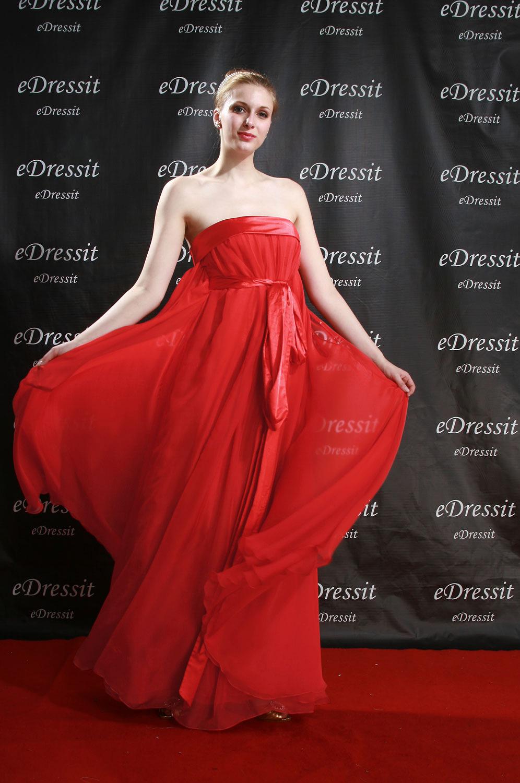 eDressit Robe de Soirée Magnifique Rouge Sans Bretelles (00080102)