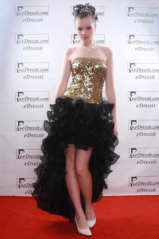 eDressit  Очаровательное черное  коктейльное платье (00084800)