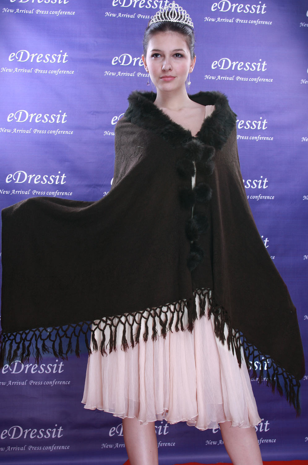 eDressit Brown Shawl/Wrapa/Bolero (14090120)