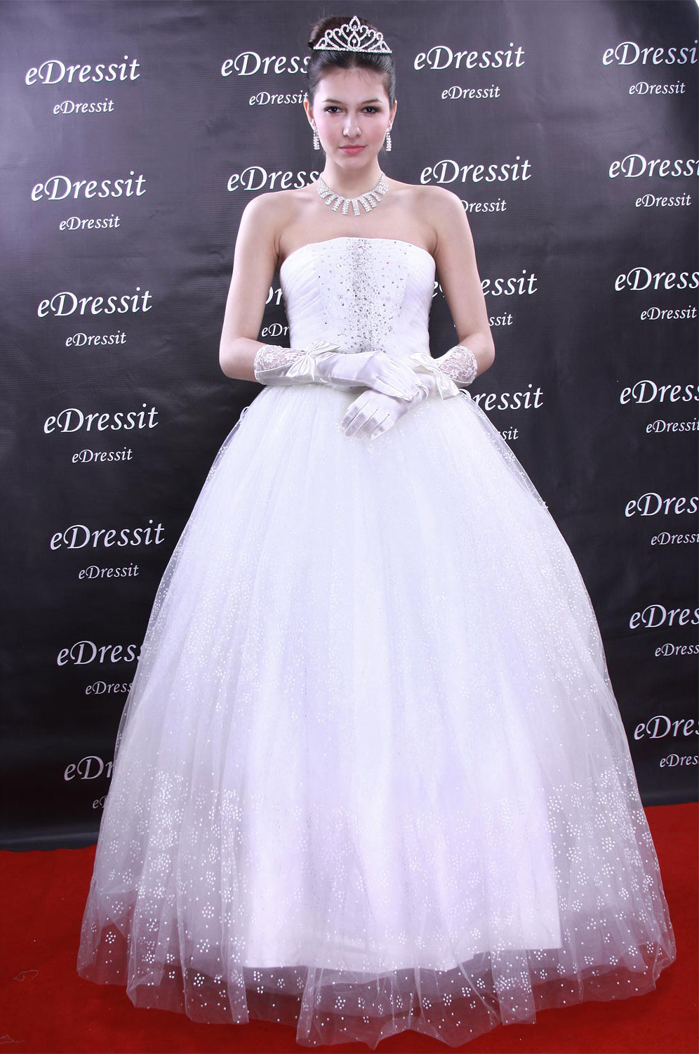 Christmas Discount 50% Off eDressit White Prom Gown Evening Wedding Dress (01090707)
