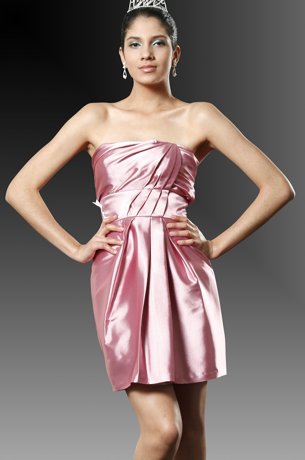 eDressit Anne Hathaway Mini Strapless Party Dress (04094101)