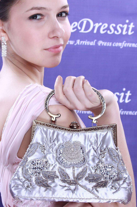 eDressit Silver Lady Hangbag/Clutch/Shoulder Bag (08091235)