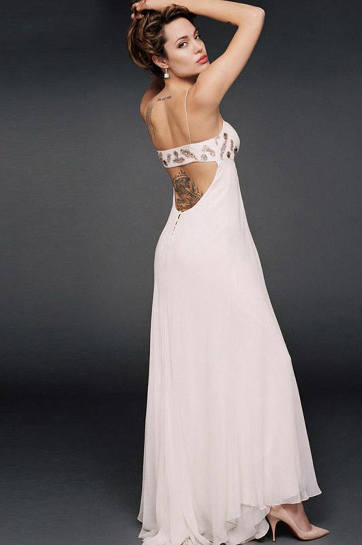 eDressit Angelina Jolie Prinzessin Abendkleid/Ballkleid in Weiss (00040207)
