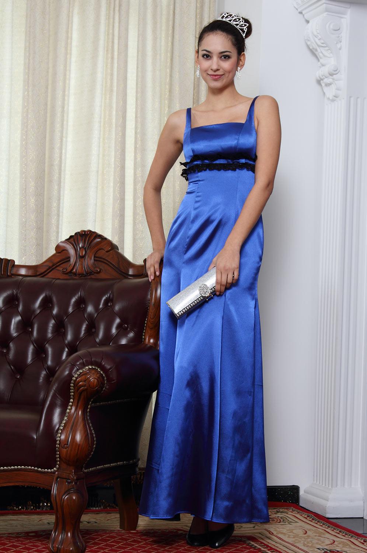 eDressit Elegant Blau Brautjungfer Kleid (07090505)