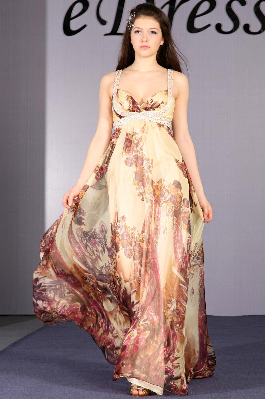 eDressit Elegant Pattern und Perlen Abendkleid (00093868)