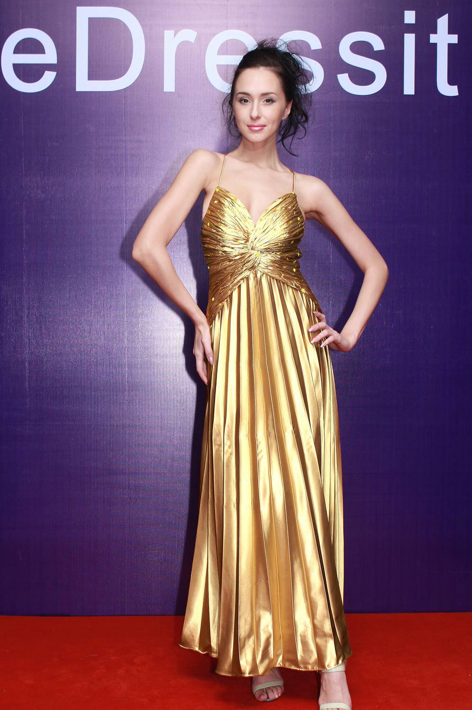 eDressit Deep V-Cut Sexy Luxurious Gold Evening Dress (00778103)