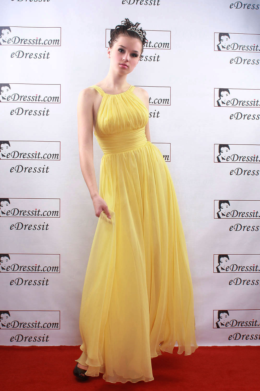 On sale !! eDressit Celebrity Sexy yellow  Prom Gown Evening Dress (00081403g)