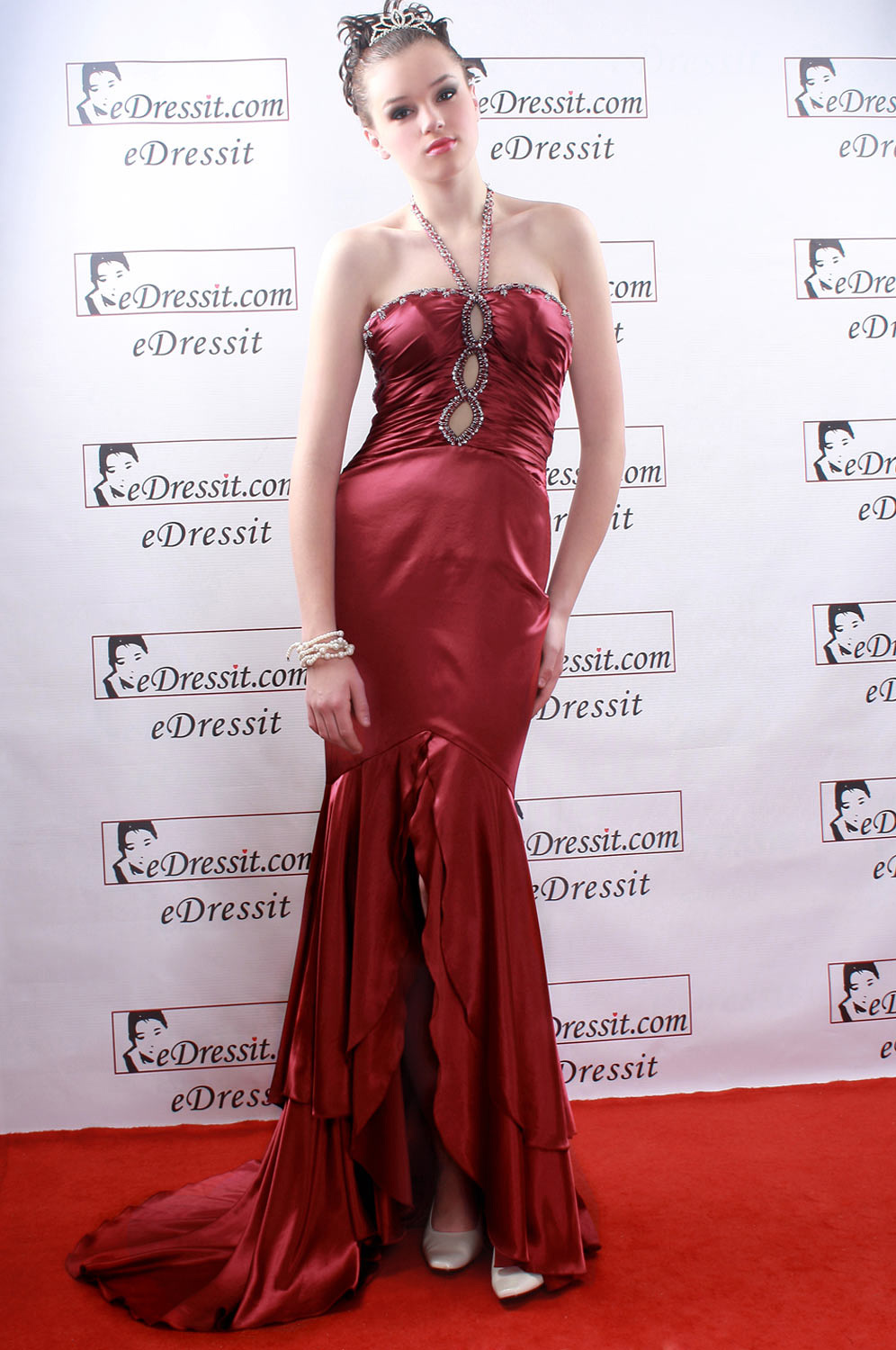 eDressit Red halter Sexy Prom Gown Evenging Dress (02770102)