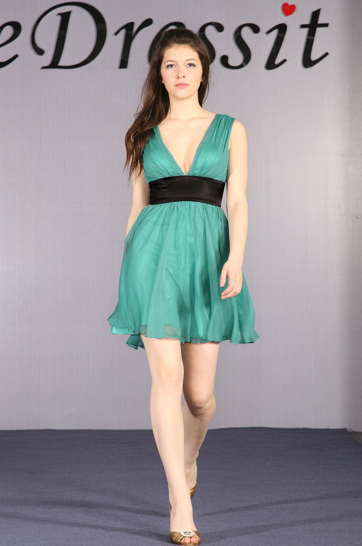 eDressit Robe de Cocktail Verte (04091504)