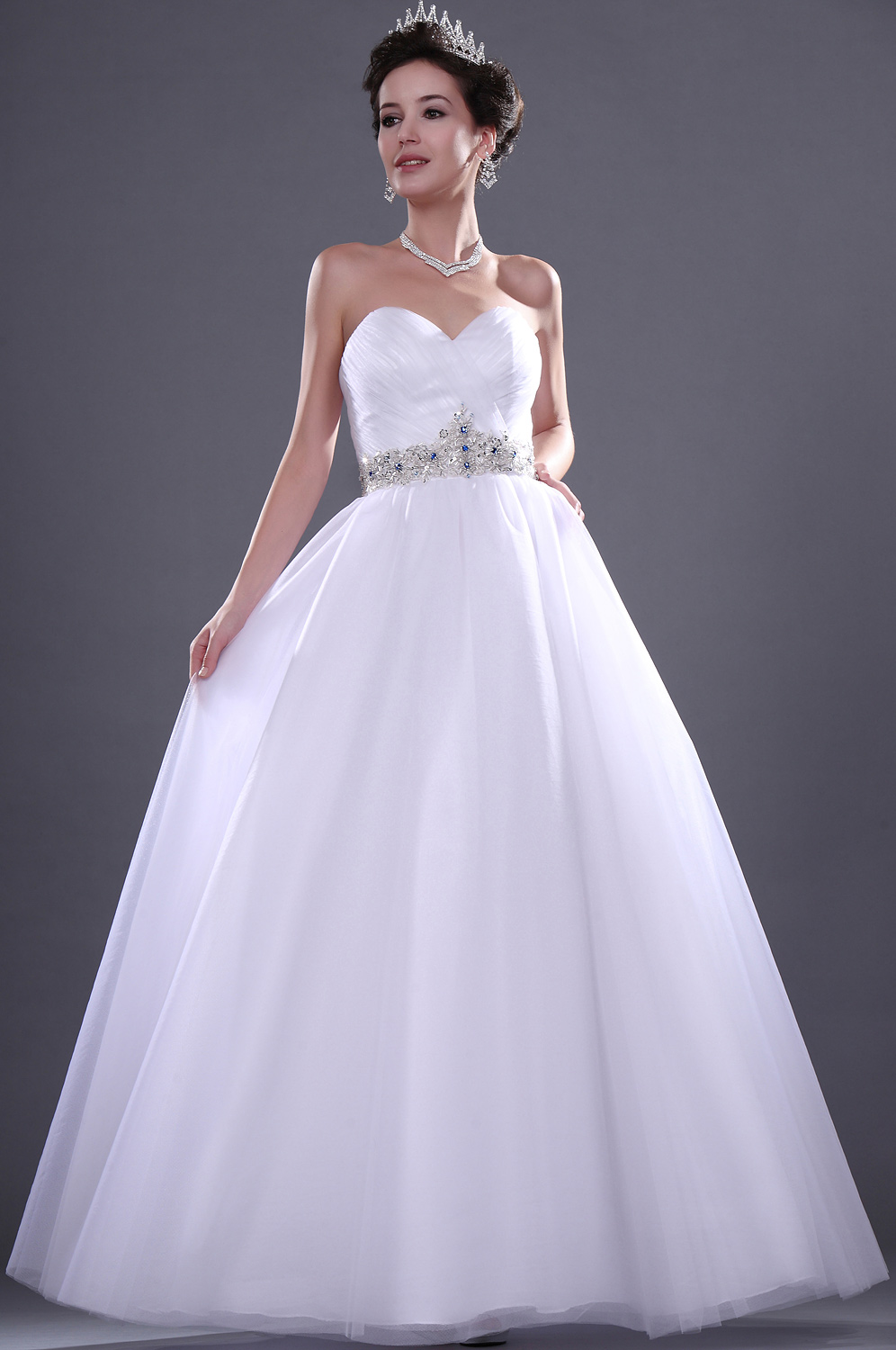 eDressit  New Adoral White Sweetheart Wedding Gown (01110907)