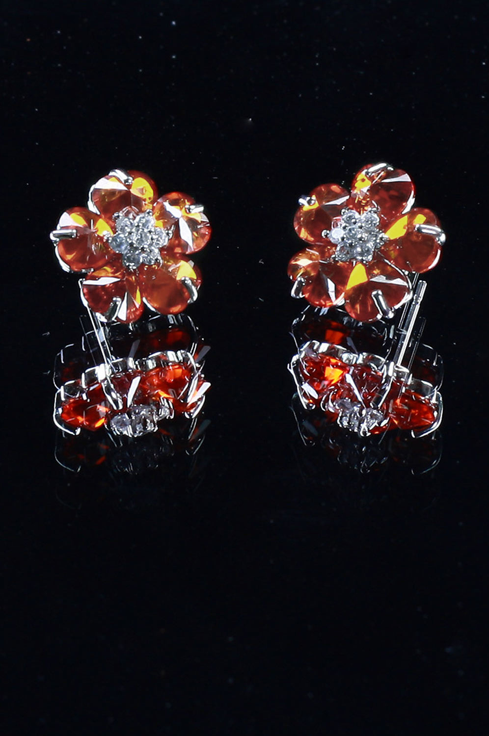 eDressit Red Flower Shape earring (11090602)