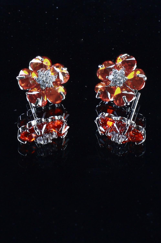 eDressit Red Flower Shape earring (11090602)