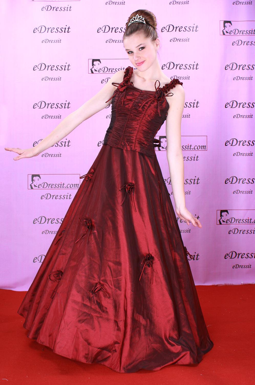 eDressit Red Ball Gown Bridesmaid Evening Dress (01070102)