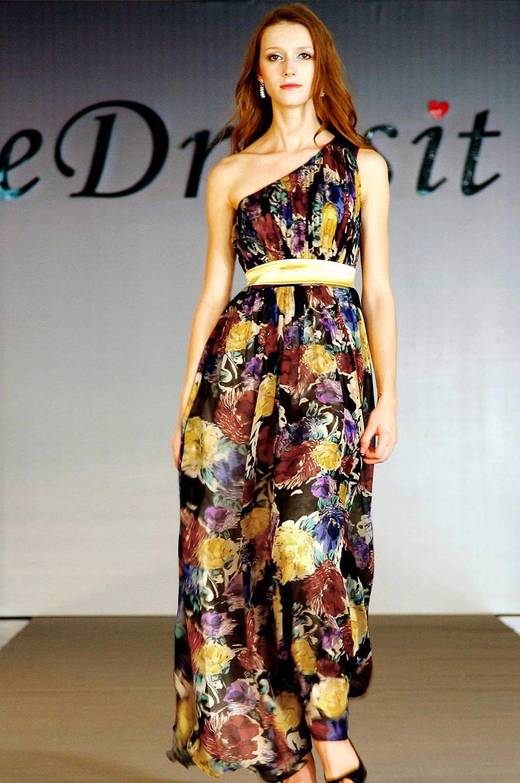 eDressit 100% Real Silk Single Shoulder Evening Dress (00099768)