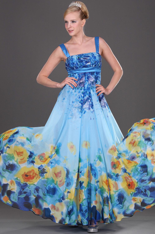 eDressit Träger Floral  Abendkleid (00082268)