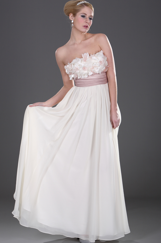 eDressit Trägerlos  Elegant Blume Abendkleid (00107613)