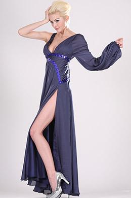 eDressit  Ein-Aermel leuchtend Abendkleid--Gr44 (00103905)