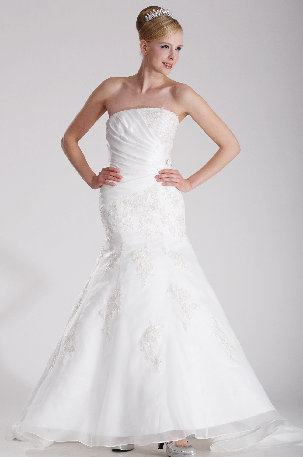 eDressit Graceful Strapless Wedding Gown (01100507)