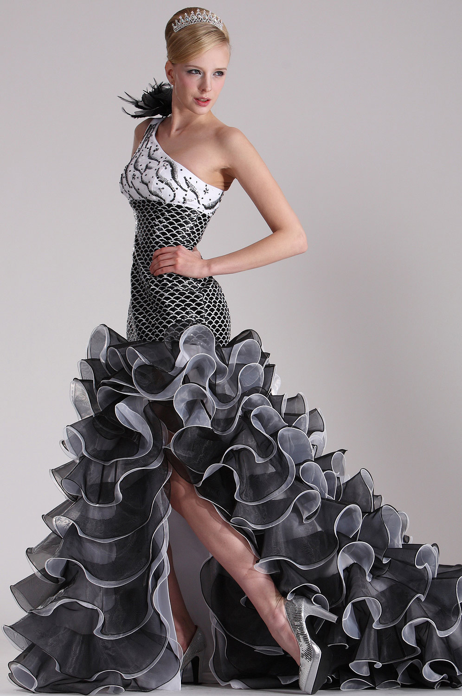 eDressit Elegante Vestido de Baile Solo hombro (02100100)