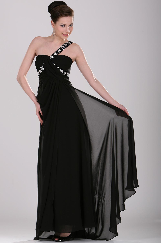 eDressit блестящее черное вечернее платье (00104000)