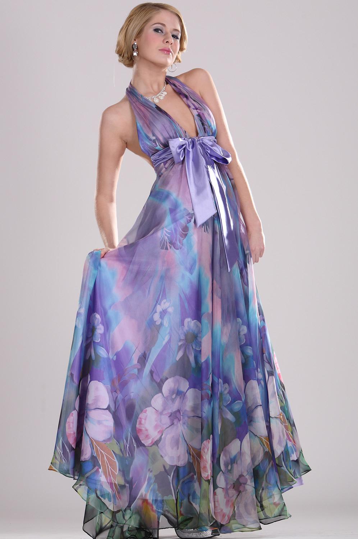 eDressit Floral Halter Evening Dress (00099206)