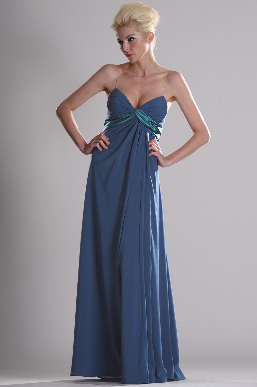 eDressit special Träger  Elegant  blau Abendkleid (00104605)