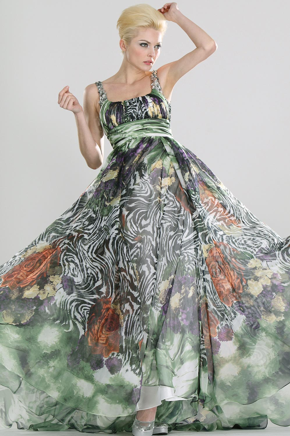 eDressit Printed Silk Chiffon Evening Dress (00080968)