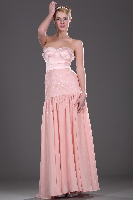 eDressit Trägerlos Pailleten  Rosa Abendkleid (00106801)