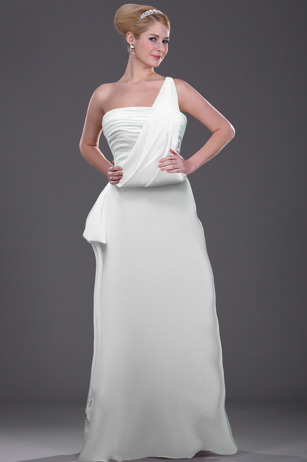Elegant White Wedding Evening Dress (hz007)