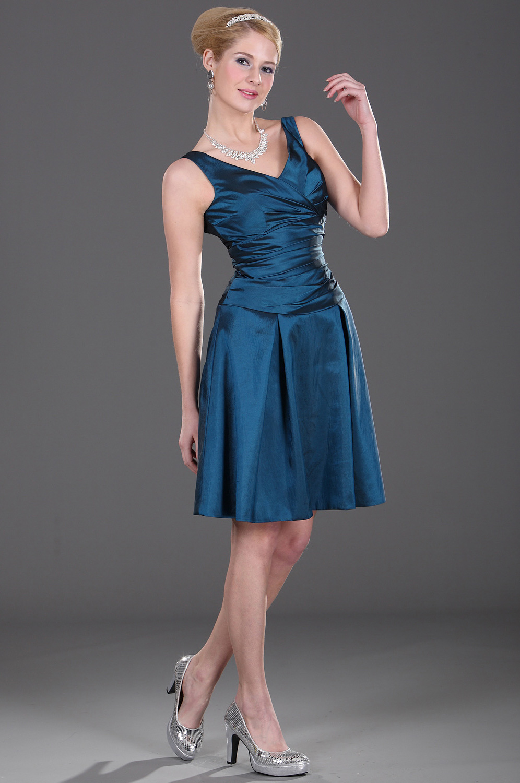 eDressit Halter  V-Schnitt scharmant Blau Brautjunfer Kleid (07100605)