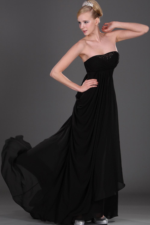 eDressit Черное  вечернее платье без бретелек (00108100)