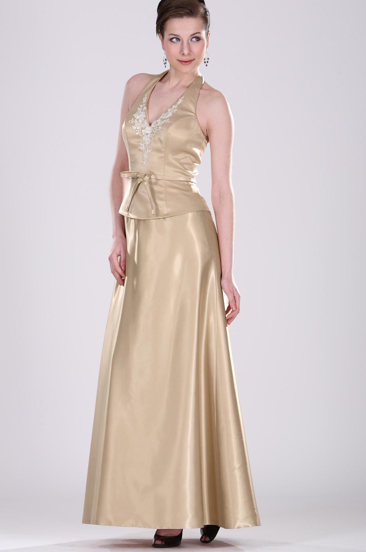 eDressit V-Halter Elegant Kleid für Mutter (26100514)