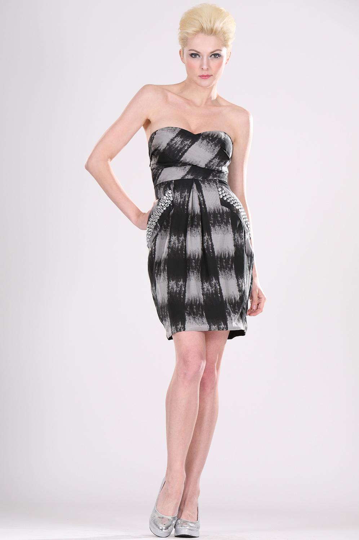 eDressit Simple Vestido  Cóctel sin Tirante (04101200)