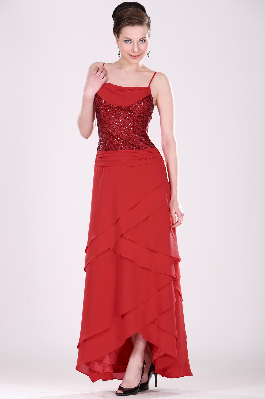 eDressit Elegant  spagetti Träger rot Kleid für Mutter (26100802)