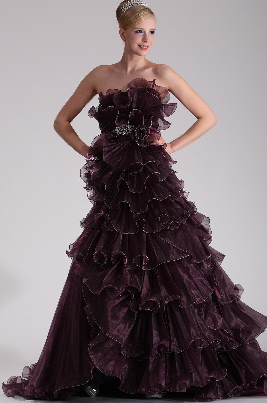 eDressit Vestido Atractivo de Baile Llena de Pliegues y Encajes (28101706)