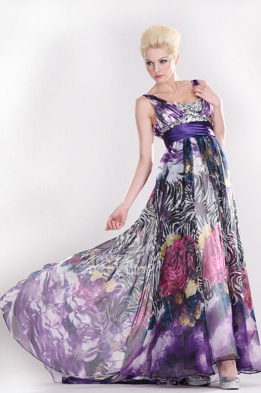 eDressit Träger  Elizabeth leuchtend floral  Abendkleid (00080468)