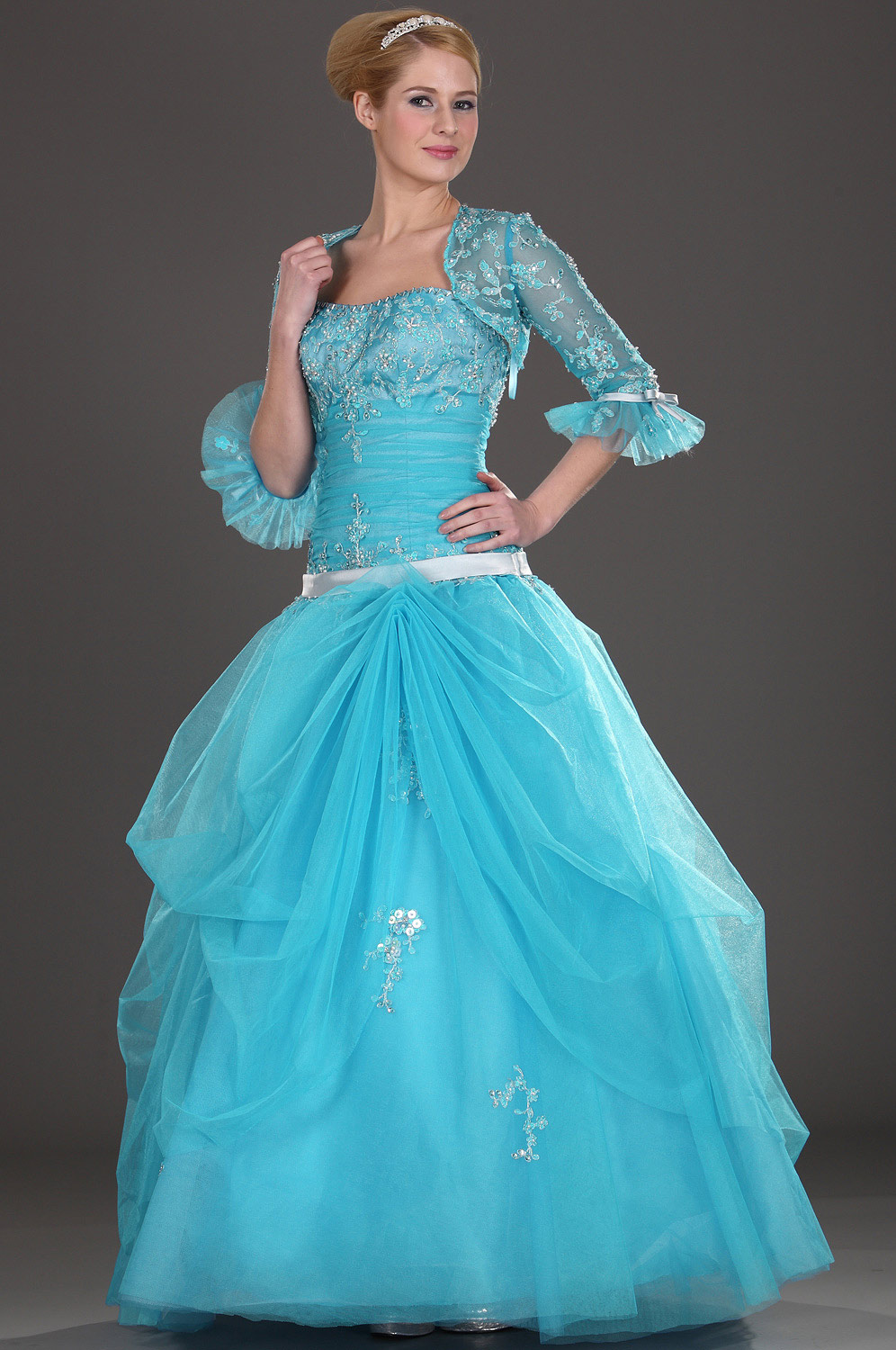 eDressit Attractive Blue Strapless Prom Gown (28090405)