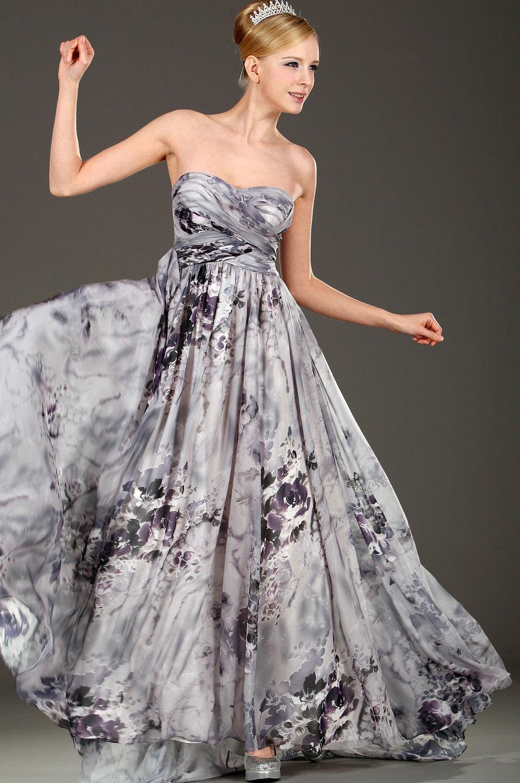 eDressit Strapless Floral Evening Dress (00107568)